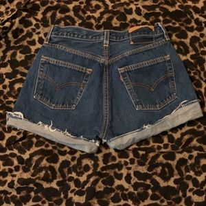Levi button fly shorts
